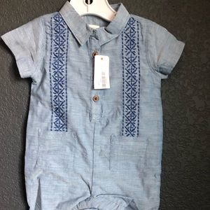 Gymboree baby one piece boys shirt and shorts